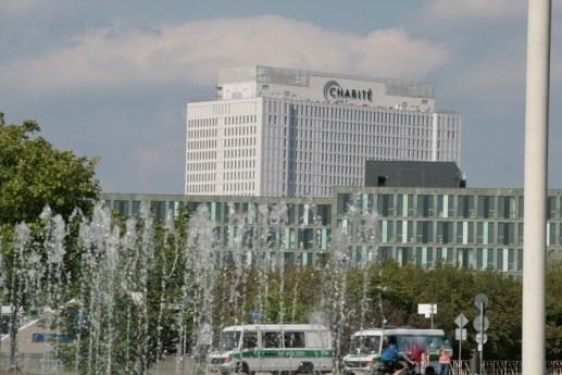 Blick vom Reichstag in Richtung Charité
