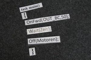 Übersetzt heißt das: Motoren an und ab geht's!