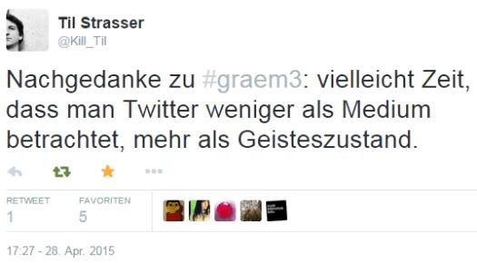 Tweet von @Kill_Til: Twitter als Geisteszustand