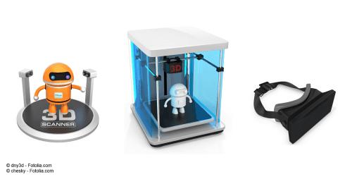 3 Technologien: 3D-Scan, 3D-Druck und Virtuelle Realität