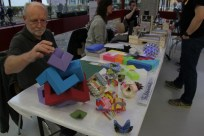 Origami-Kunst bei der DingFabrik