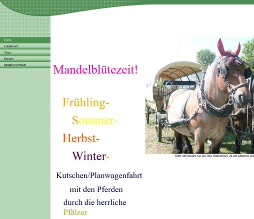 Willkommen Pferdekutschfahrten Bjorn Schmitt
