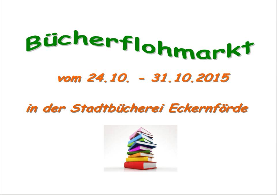 Bücherflohmarkt vom 24.10.-31.10.2015