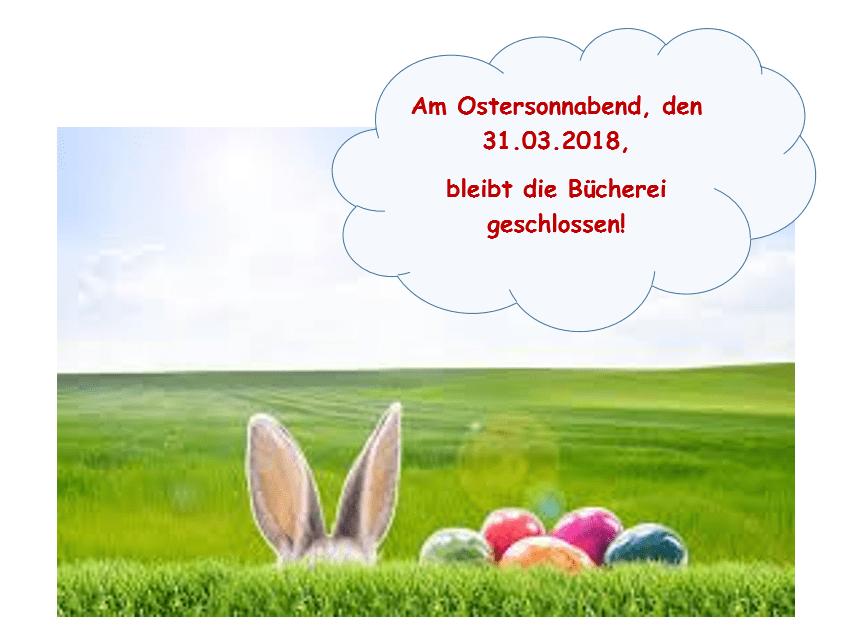 Ostern geschlossen