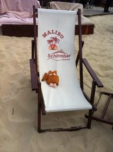 auf der Strandliege