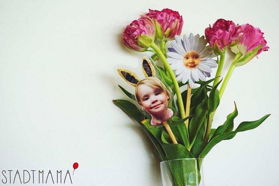 DIY Geschenkidee Blumenstecker selber machen