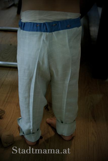 Hose aus armeln nahen