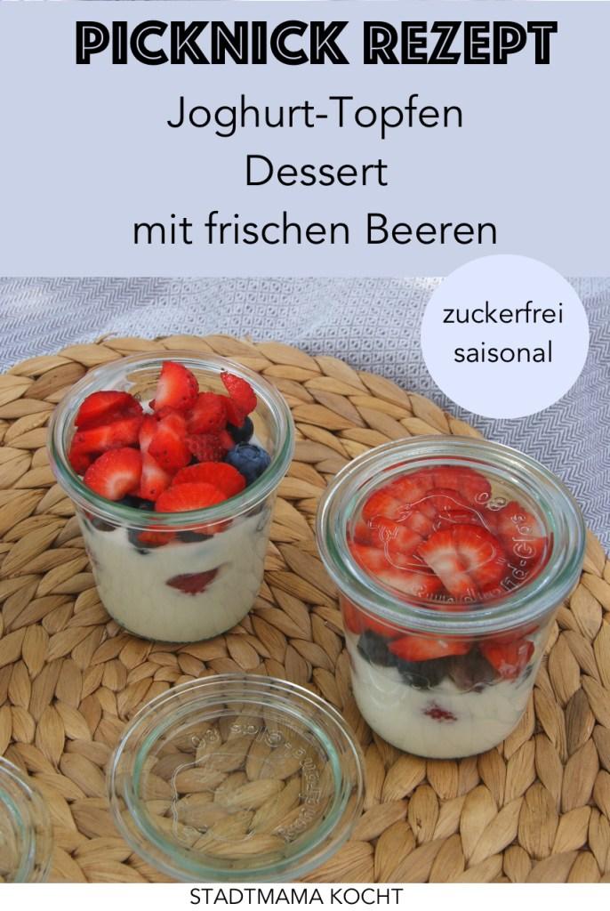 Lust auf ein fruchtiges Sommer Dessert Rezept? Das Topfen-Joghurt mit frischen Beeren ist ein zuckerfreies Dessert Rezept im Glas, das als Sommer Snack aber auch als schnelles Dessert für die Gartenparty durchgeht.