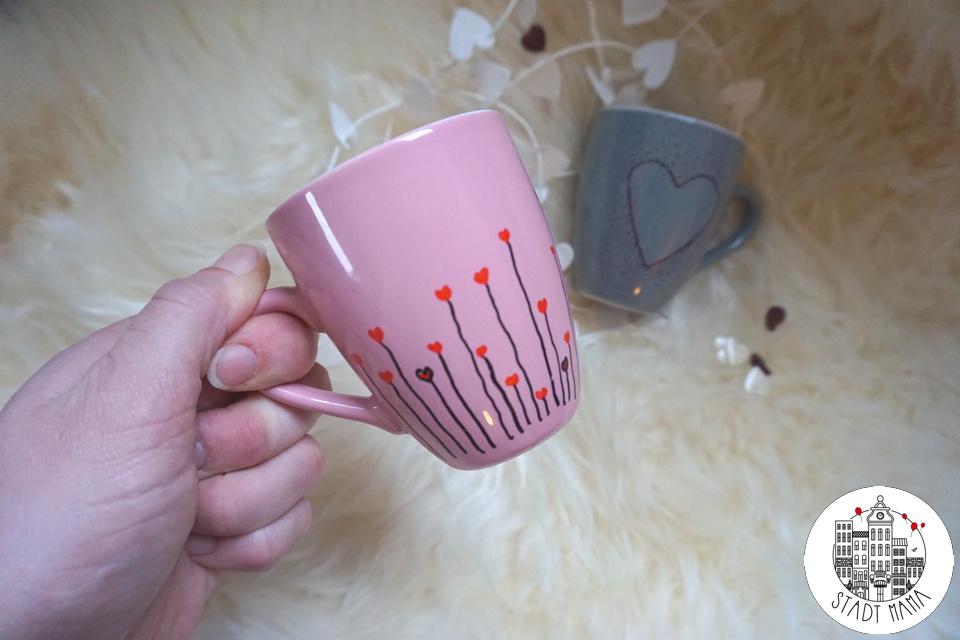 Valentinstag Tassen bemalen
