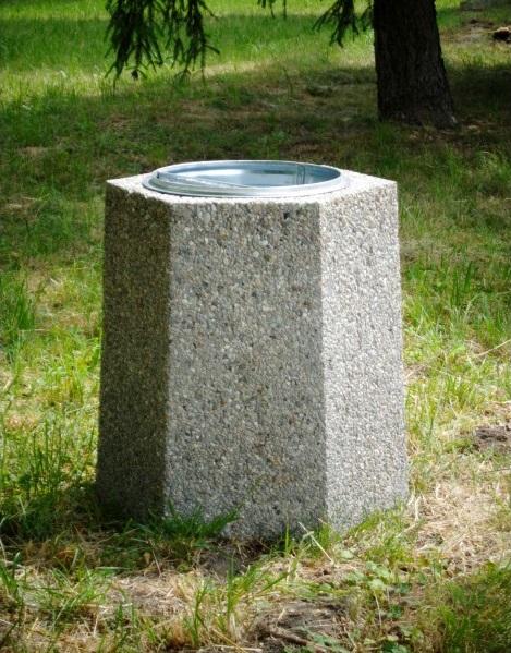 Abfallbehälter aus Beton KB-15
