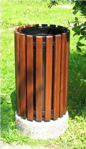 Abfallbehälter aus Holzelementen KO-20
