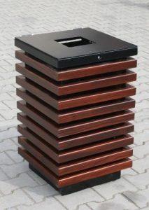Abfallbehälter aus Holzelementen KO-52