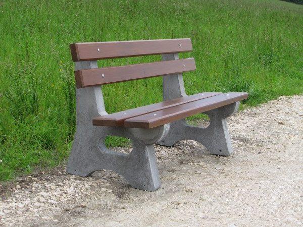 Sitzbank aus Beton L-11b