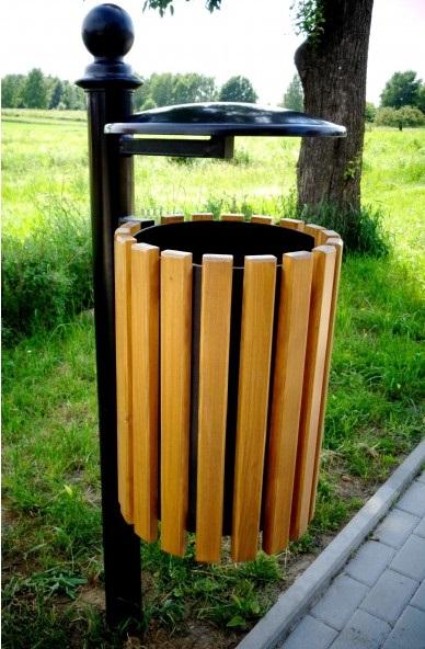 Abfallbehälter aus Holzelementen KO-11c