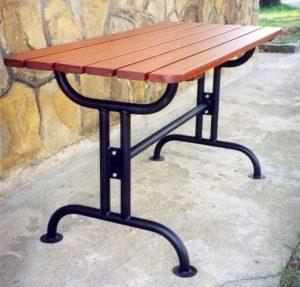 Gartentisch aus Edelstahl S-33