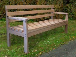 Sitzbank aus Holz L-110b