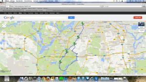 Die Route nach Blankensee