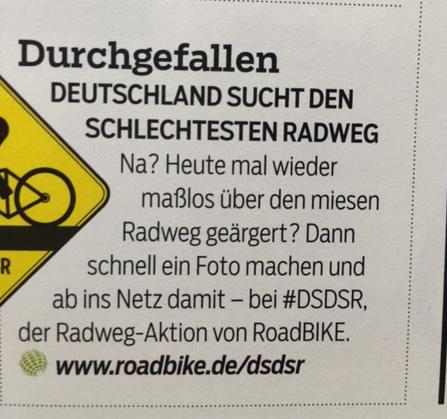 So sucht Roadbike nach dem schlechtesten Radweg