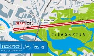 Brompton-Rennen Berlin: Strecke