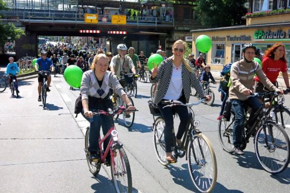 Fahrradfahrer bei der Sternfahrt 2015 in Berlin