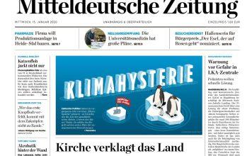 Der Titel soll bleiben. Im Hintergrund dürfte sich aber einiges ändern nach dem Verkauf der Mitteldeutschen Zeitung an die Bauer Media Group. Die gibt nämlich das Konkurrenzblatt Volksstimme in Magdeburg heraus. (Screenshot: Möbius)