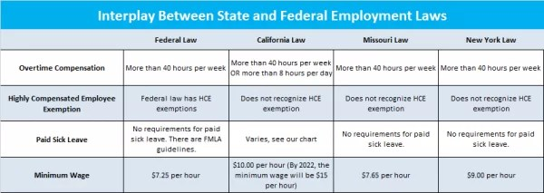 Federal and State Employment Law Graph
