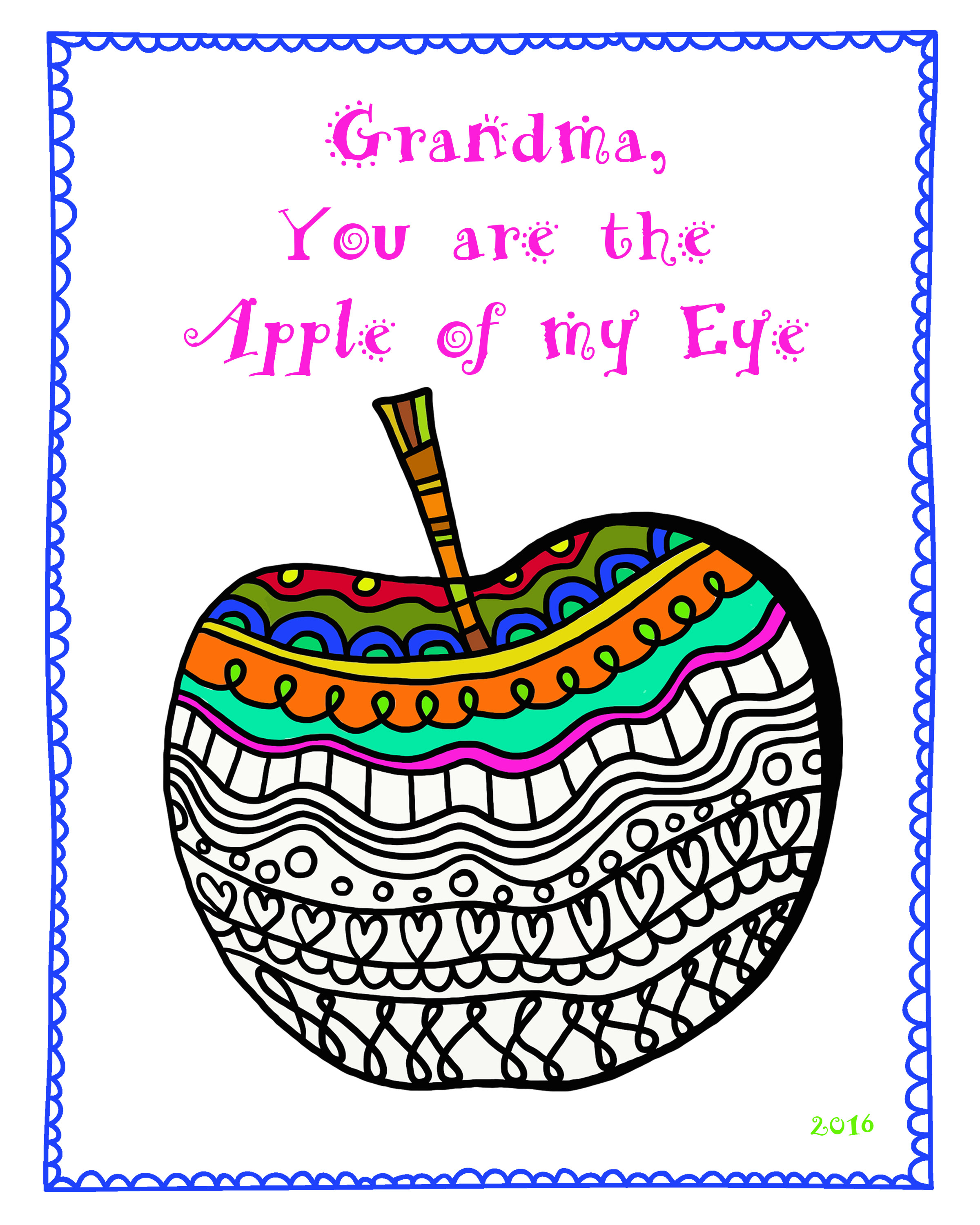 Free Grandparent S Day Coloring Sheet