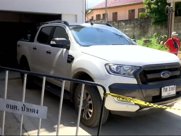 The pick up belonging to Alan Hogg   Three men charged with murder of British man and wife in Thailand skynews alan hogg wife nott 4432827