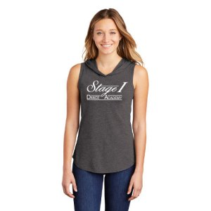 Stage 1 Ladies Sleeveless Hoodie