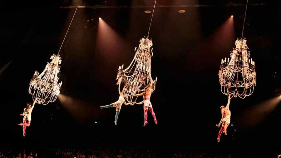 Chandelier act from the show CORTEO