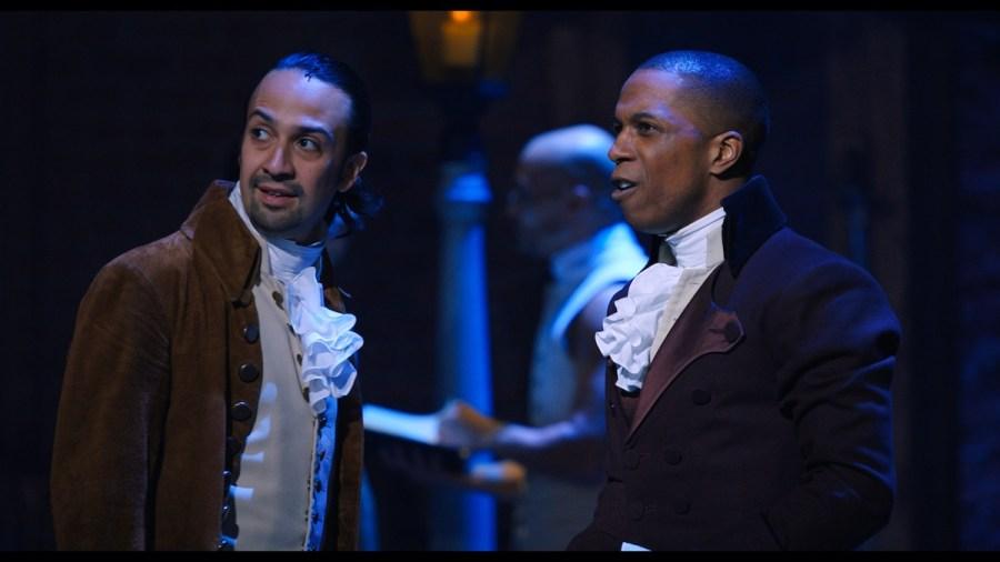 Lin-Manuel Miranda is Alexander Hamilton and Leslie Odom, Jr. is Aaron Burr