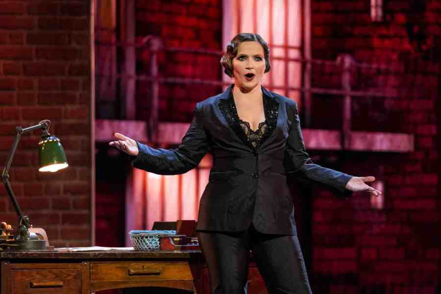 Jessica Hynes performs When You're Good To Mama from Chicago. Picture: ITV