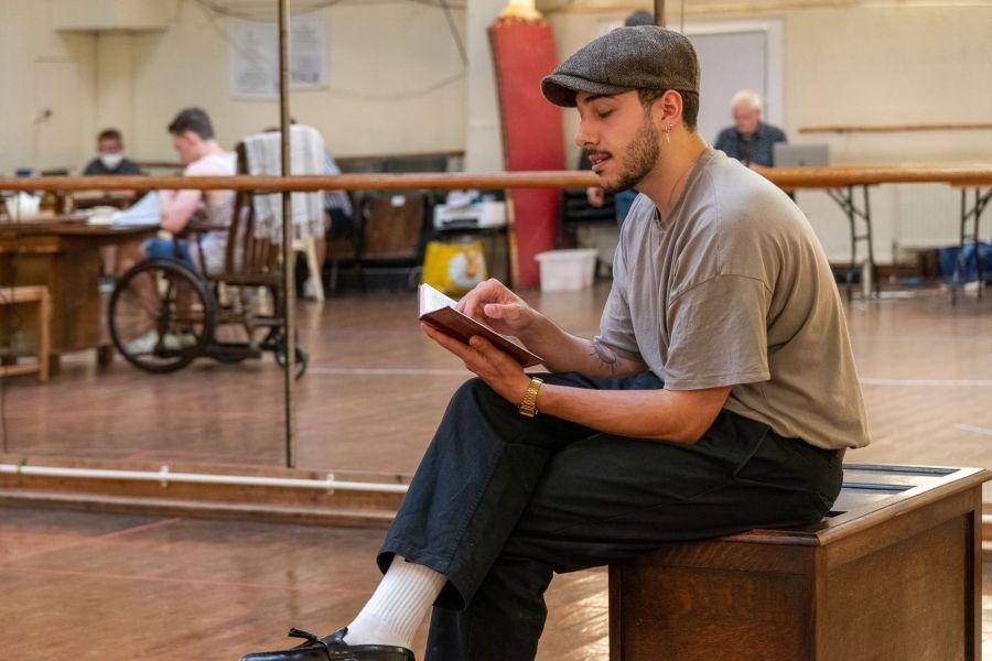 Jake Halsey-Jones, Lady Chatterley's Lover rehearsals (credit Bonnie Britain)