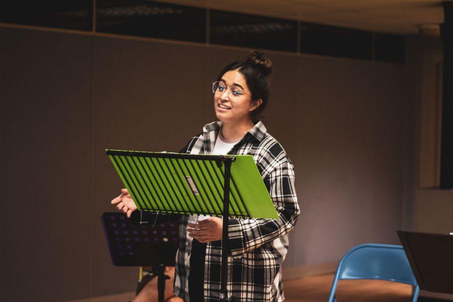 Nicola Espallardo, From Here rehearsals. Picture credit: Lucy Gray.