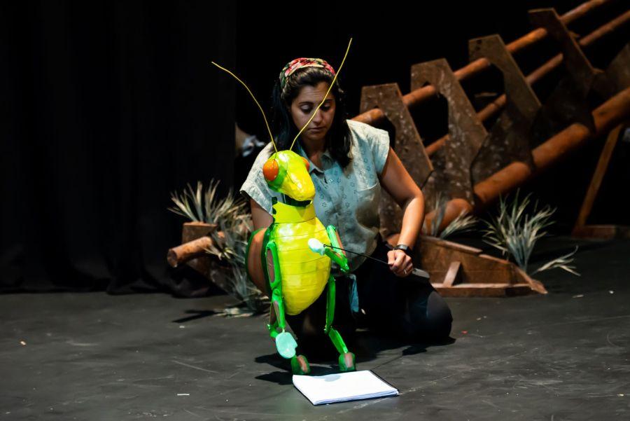 Serin Ibrahim in rehearasal for Pinocchio at Greenwich Theatre (2) (credit Lidia Crisafulli)