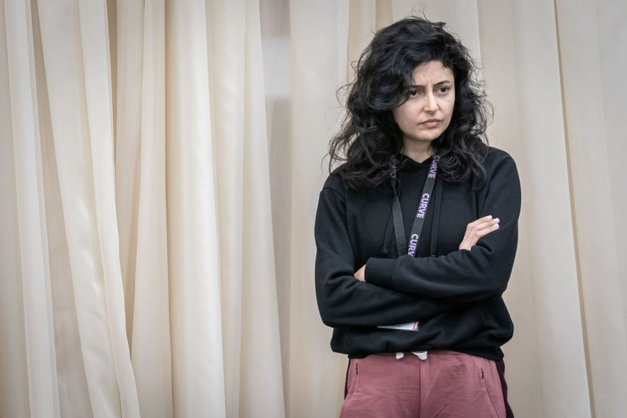 Shanaya Rafaat in Cat on a Hot Tin Roof rehearsals. Photo by Marc Brenner