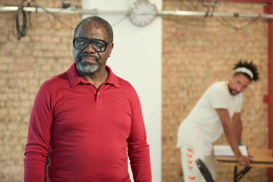David Webber and Laurence Ubong Williams in rehearsals for A Place for We By Archie Maddocks at the Park Theatre. Directed by Michael Buffong.