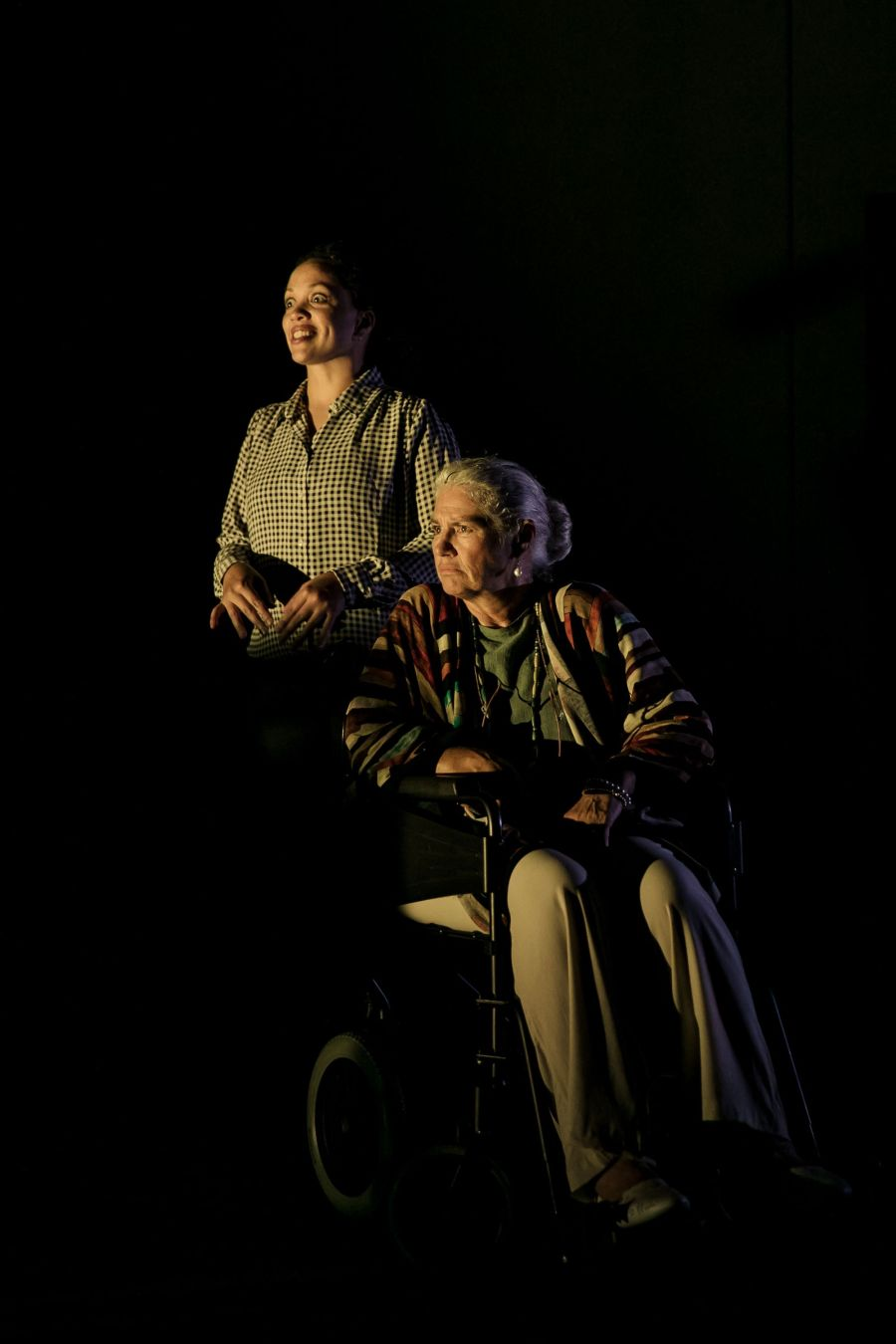 Cat Simmons (Jackie) & Denise Black (Pearl) in Mum by Morgan Lloyd Malcolm. Photo by The Other Richard.