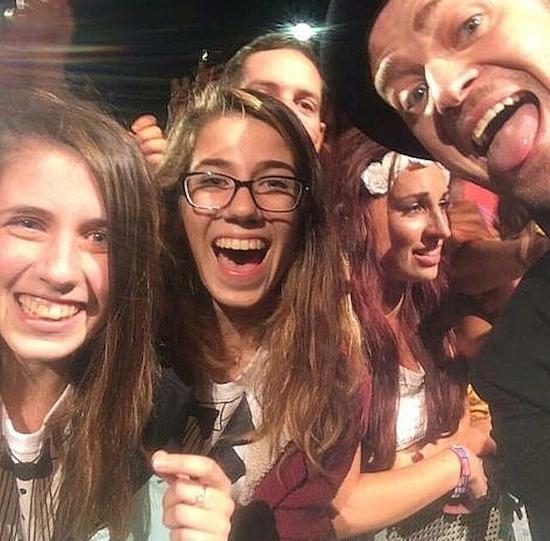 Justin Timberlake fan selfie V Festival