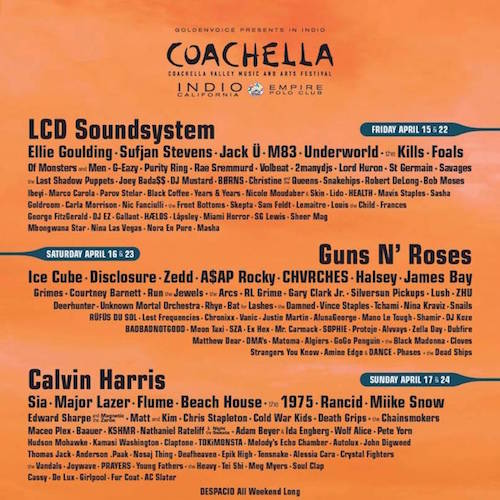 Coachella 2016: Watch the full live stream across the weekend