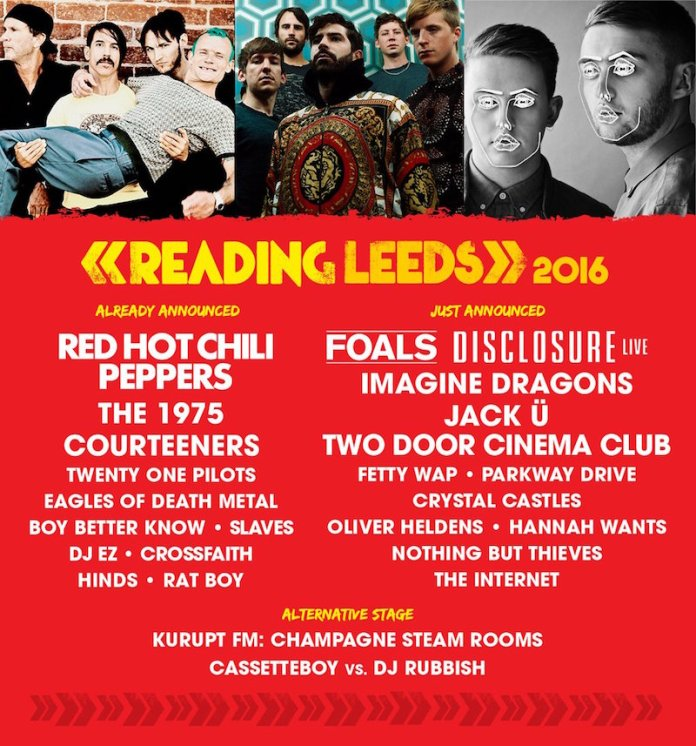 Leeds Reading Lineup 2016 2 Jan
