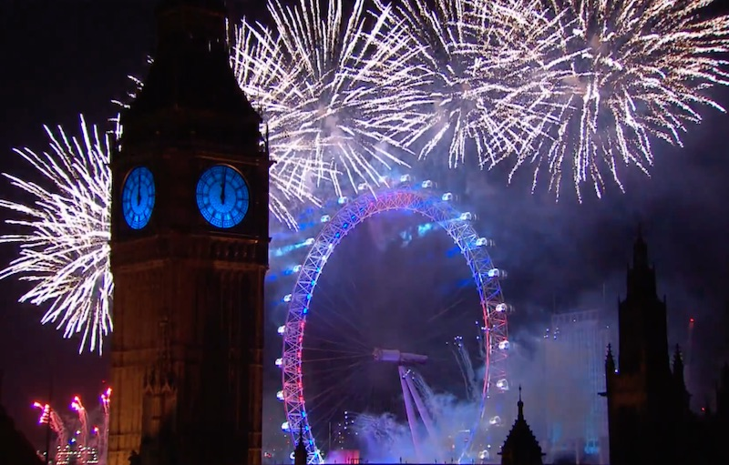 Video: Watch London's spectacular 2015 New Year's fireworks display