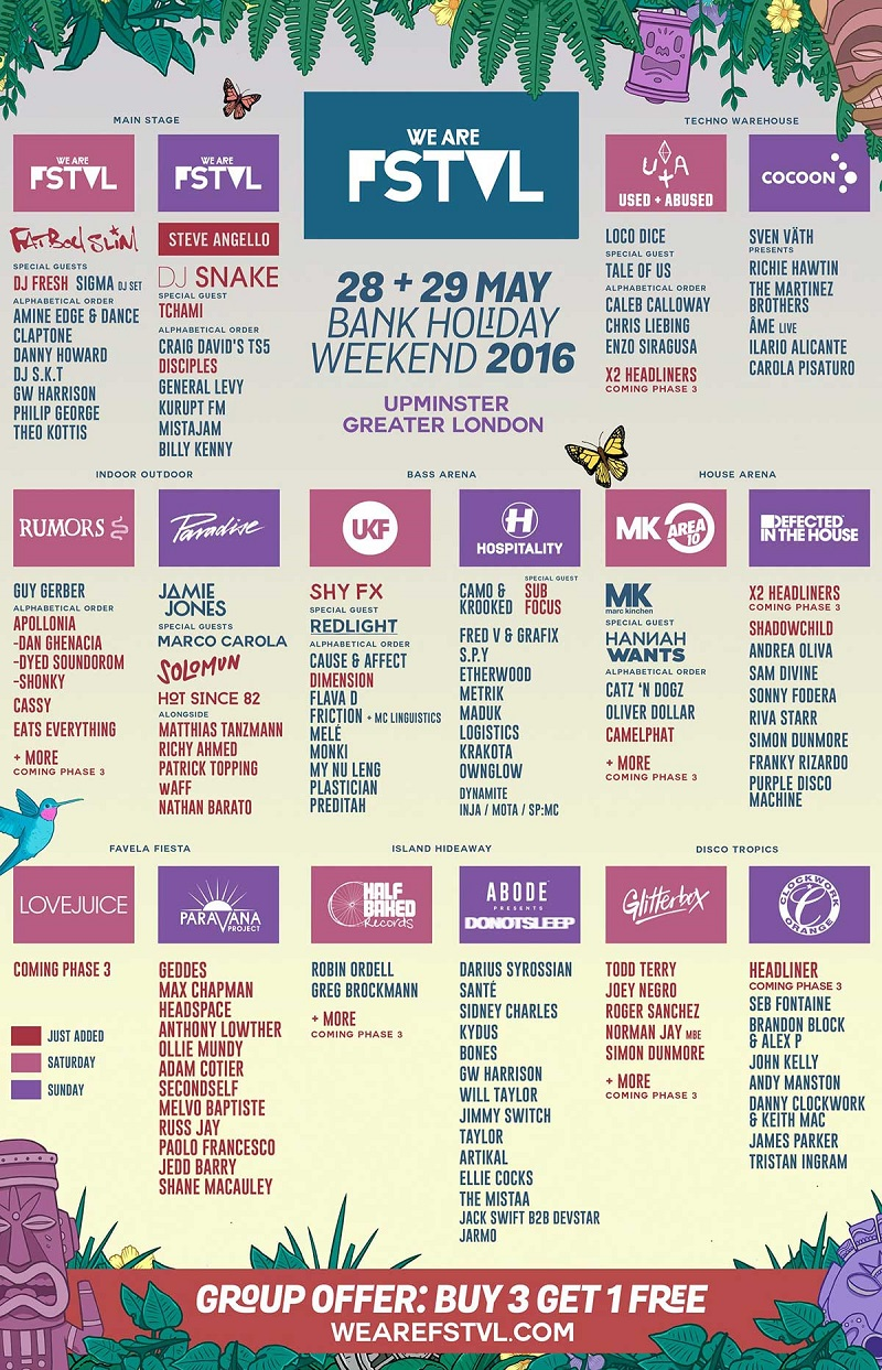 We Are FSTVL 2016 Phase 2 lineup