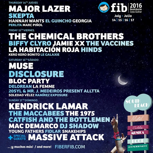 Benicassim Festival March 16 2016 Announcement