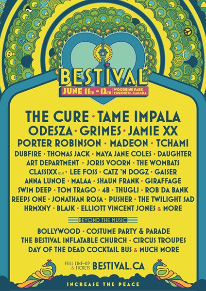 Bestival Canada Toronto 2016 initial lineup