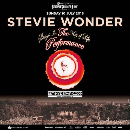 British Summer Time 2016: Stevie Wonder to play 'Songs In The Key Of Life' in full