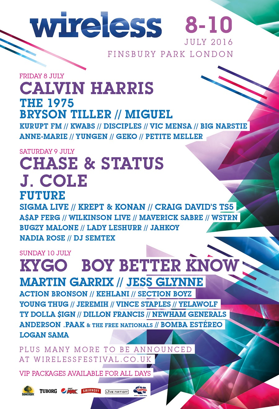 Wireless Festival 2016 Line-up