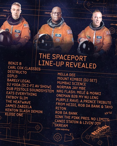 Bestival 2016 Spaceport lineup