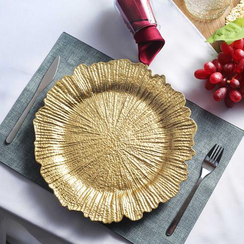 Gold Starburst Charger Plate