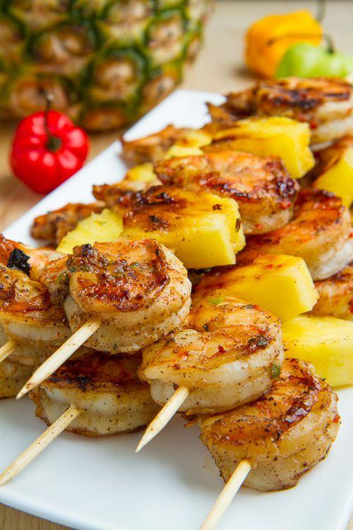 Grilled Shrimp & Pineapple Kebabs